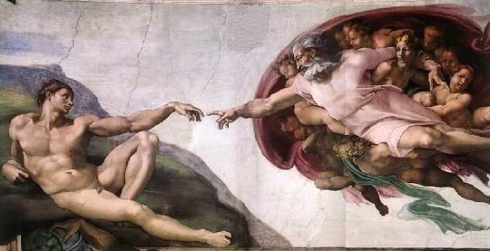 Michelangelo Cappella Sistina La creazione di Adamo