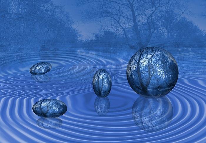 Il pensiero che divaga come onde concentriche