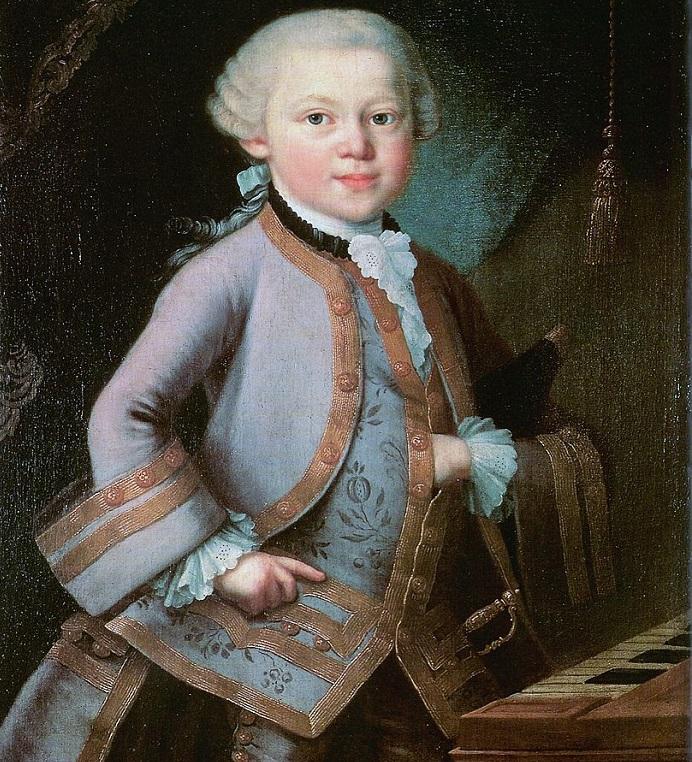 Talento musicale - Ritratto di Mozart da bambino