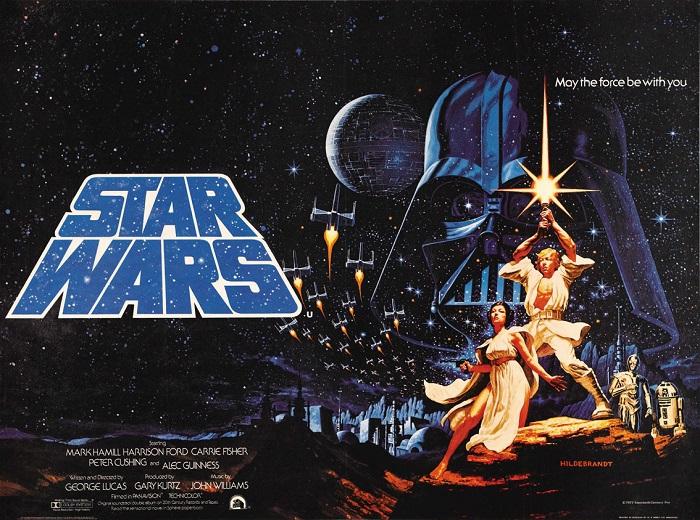 Guerre stellari. Poster del primo film