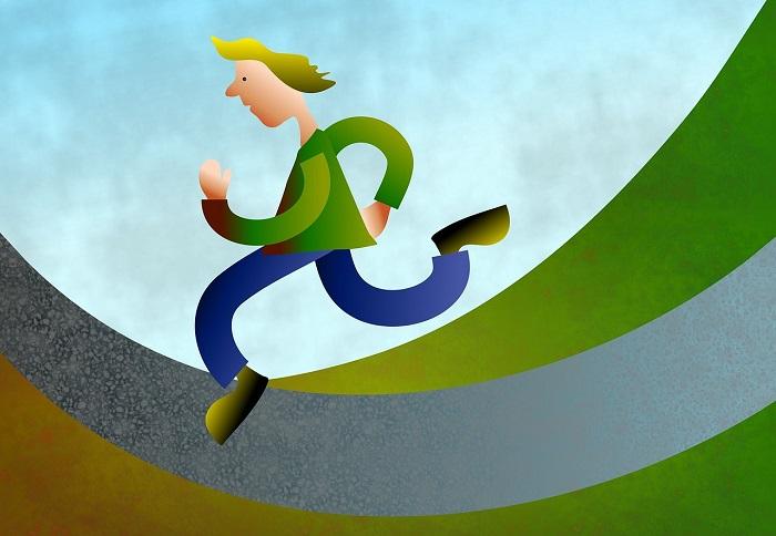 Pre-crastinazione - Disegno di una persona che corre